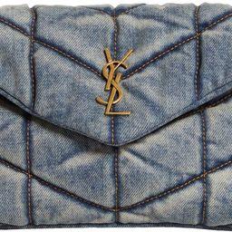 Toy Loulou Puffer Matelassé Denim Crossbody Bag | Nordstrom