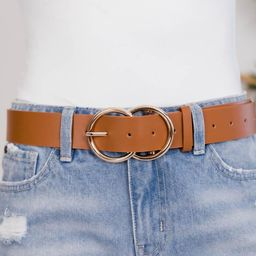 Count Your Blessings Circle Cognac Belt | The Pink Lily Boutique