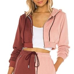 SUPERDOWN Renna Cropped Hoodie in Pink & Red from Revolve.com   Revolve Clothing (Global)