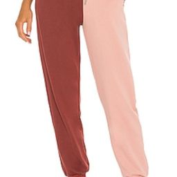 SUPERDOWN Renna Two Tone Sweatpants in Pink & Red from Revolve.com   Revolve Clothing (Global)
