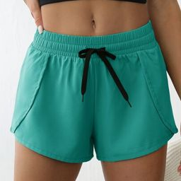 Drawstring Waist Sports Shorts   SHEIN