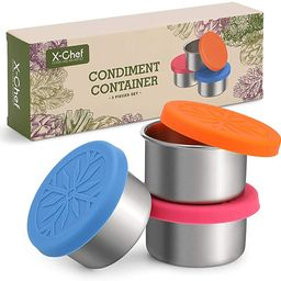 X-Chef 3 PCS Salad Dressing Containers To Go 1.7oz Sauce Containers Reusable Small Containers wit...   Amazon (US)