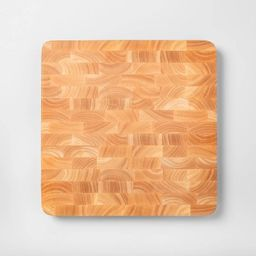 "15""x15"" Nonslip End Grain Wood Chop Block Cutting Board - Made By Design™   Target"