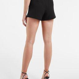 High Waisted Soft Seamed Shorts   Express