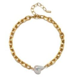 Cloud Nine Baroque Pearl Chain Choker Necklace   Sequin