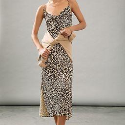 Elyse Printed Bias Slip Dress | Anthropologie (US)