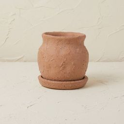 """5.5"""" Terracotta Planter Brown Clay - Opalhouse™ designed with Jungalow™ 