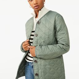 Free Assembly Women's Quilted Liner Jacket   Walmart (US)