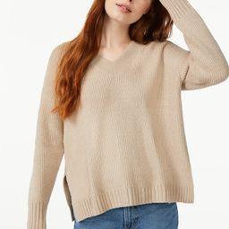 Free Assembly Women's Oversized V-Neck Fuzzy Cotton Sweater   Walmart (US)