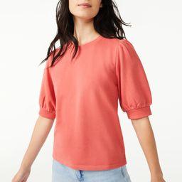 Free Assembly Women's Puff Shoulder Top   Walmart (US)