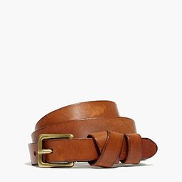 Leather Crisscross Skinny Belt | Madewell