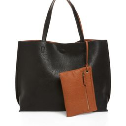 Reversible Faux Leather Tote & Wristlet | Nordstrom | Nordstrom
