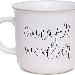 Sweet Water Decor Fall Coffee Mugs | Seasonal 16oz Ceramic Campfire Coffee Cup | Microwave & Dish... | Amazon (US)