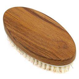 Teak Body Brush for Wet and Dry Brushing, Exfoliating Brush Body Scrubber for Cellulite Massager,... | Amazon (US)