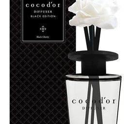 Cocodor Black Edition White Flower Reed Diffuser / Black Cherry / 16.9oz(500ml) / 1 Pack / Home &... | Amazon (US)