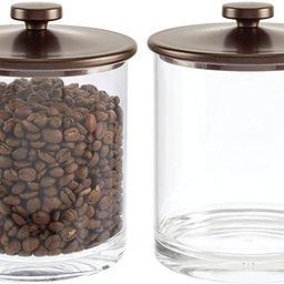 mDesign Plastic Round Kitchen Countertop Storage Organizer Canister Jar for Sugar, Flour, Tea, Co... | Amazon (US)