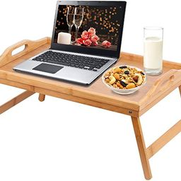 Jibanie Bamboo Bed Breakfast Folding Tray-Laptop Desk Great for Dinner Tea Bar TV Eating Tray Sta... | Amazon (US)