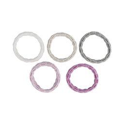 Hairitage Mesh Hair Scrunchies - Multi (White, Ivory, Gray, Lavender, Purple) | Walmart (US)