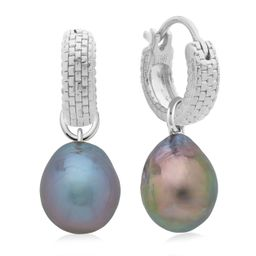 Doina Huggie and Grey Pearl Earring Set | Monica Vinader (US)