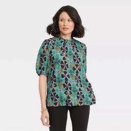 Women's Short Sleeve High Neck Blouse - Knox Rose™ | Target