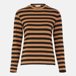 Stripe Relaxed Crew Neck Top | Warehouse UK & IE