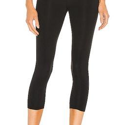 High Waist Airweight Crop Legging in Black | Revolve Clothing (Global)