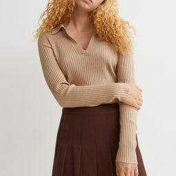 Collared Ribbed Top | H&M (US)