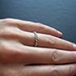 Beautiful twisted sterling silver ring band | Amazon (US)