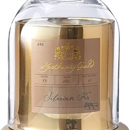 Zodax Apothecary Guild Scented Candle Jar with Glass Dome - Gold / Medium, Siberian Fir   Amazon (US)