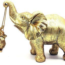 Boragai Gold Elephant Statue Figurines Home Decor - Good Luck Elephant Gifts for Mom & Women, Ele...   Amazon (US)