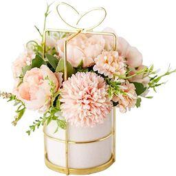 KIRIFLY Artificial Flowers Fake Peony Silk Hydrangea Flower with Vase Flower Décor Arrangements ...   Amazon (US)