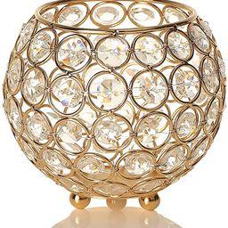 VINCIGANT Gold Decorative Bowls for Home Decor Dining Room Table Centerpieces,Sparkly Tea Light C...   Amazon (US)