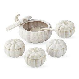Sculptural Pumpkin Bowls & Tureen   Williams-Sonoma