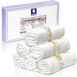 Bamboo Washcloths Baby Organic - Hypoallergenic 2 Layers Ultra Soft, Thick and Luxurious Natural ... | Amazon (US)