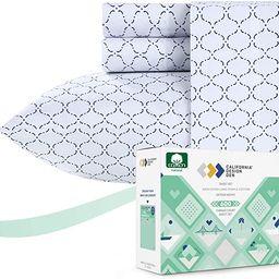California Design Den Blue King Sheets - 100% Pure Cotton 4-Piece 600-Thread-Count Luxury Hotel C... | Amazon (US)