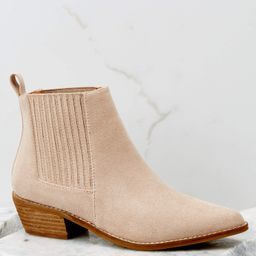 Seen You Before Taupe Ankle Booties | Red Dress
