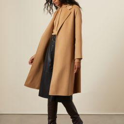 Kinsey Wool Cashmere Double Faced Robe Coat | Italic