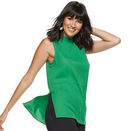 Women's Nine West Mockneck Sleeveless Tunic, Size: XXL, Med Green | Kohl's