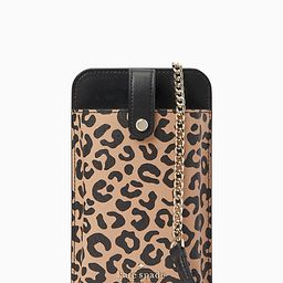 remi graphic leopard colorblock north south tab phone crossbody   Kate Spade Surprise