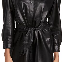 Faux Nelly Belted Vegan Leather Dress | Shopbop