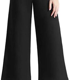 Tsful High Waist Wide Leg Pants for Women Business Casual Crop Dress Pants Stretch Pull On Office... | Amazon (US)