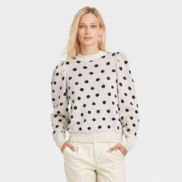 Women's Polka Dot Mock Turtleneck Pullover Sweater - Who What Wear™   Target