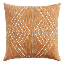 Rust Geo Printed Throw Pillow   World Market