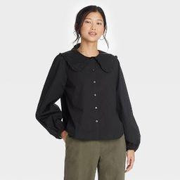 Women's Oversized Balloon Long Sleeve Button-Down Shirt - A New Day™   Target