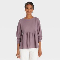Women's Long Sleeve Babydoll Blouse - Knox Rose™   Target