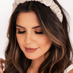 Seek The Weekend Scrunched Ivory Headband | The Pink Lily Boutique