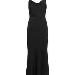 INTERMIX Paris Silk Slip Dress, Black 4 | INTERMIX