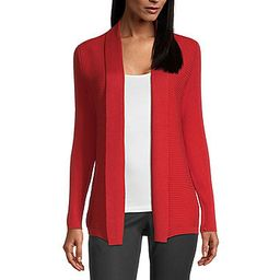 Liz Claiborne Womens Ribbed Open Cardigan   JCPenney
