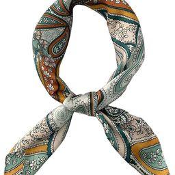 FONYVE Silk Feeling Scarf Medium Square Satin Head Scarf for Women 27.5 × 27.5 inches | Amazon (US)
