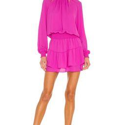 Turtleneck Ruffle Skirt Dress                                          krisa | Revolve Clothing (Global)